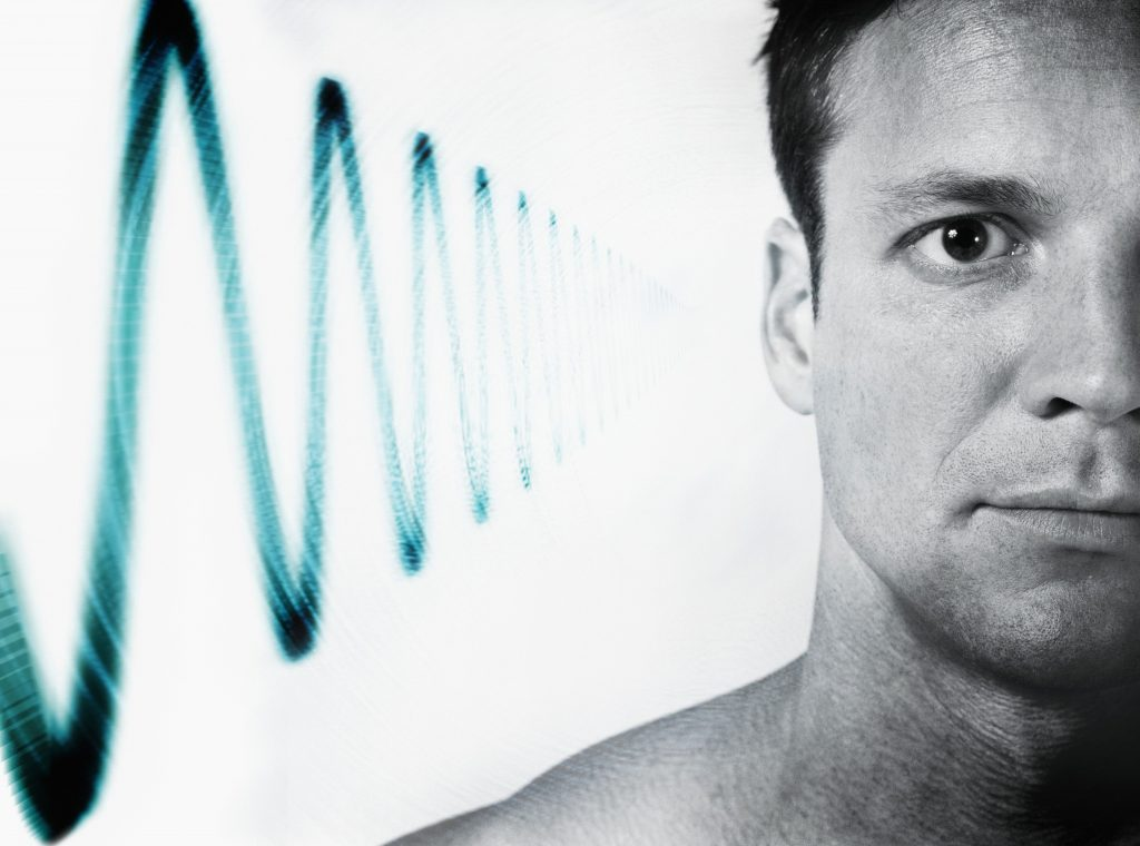 Noise waves outside mans ear - Noise induced hearing loss