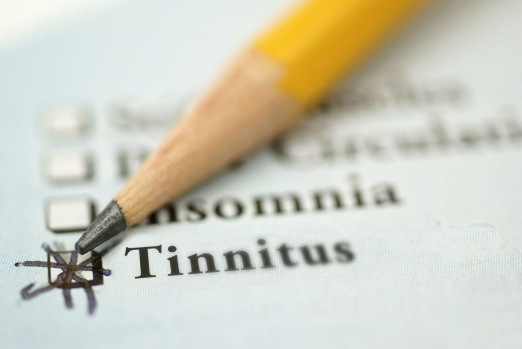 Pencil and checklist - tinnitus checklist