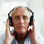 Elderly man taking audiology test | Sacramento ENT